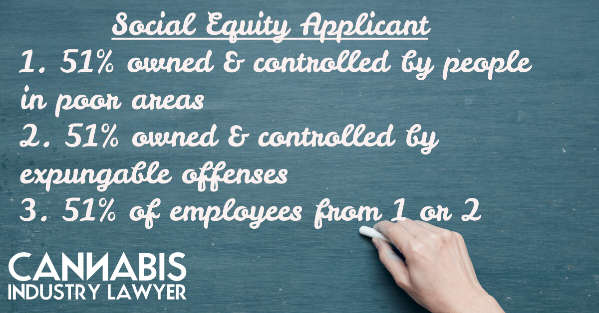 social equity applicant is