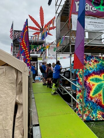 Seattle Hempfest - Backstage