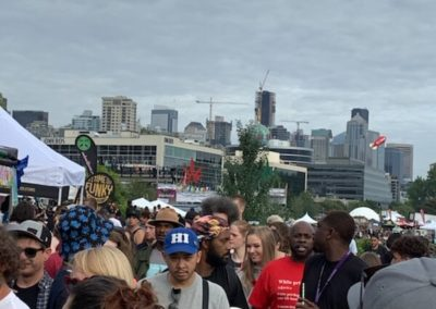 Seattle Hempfest 2019 - crowd & skyline