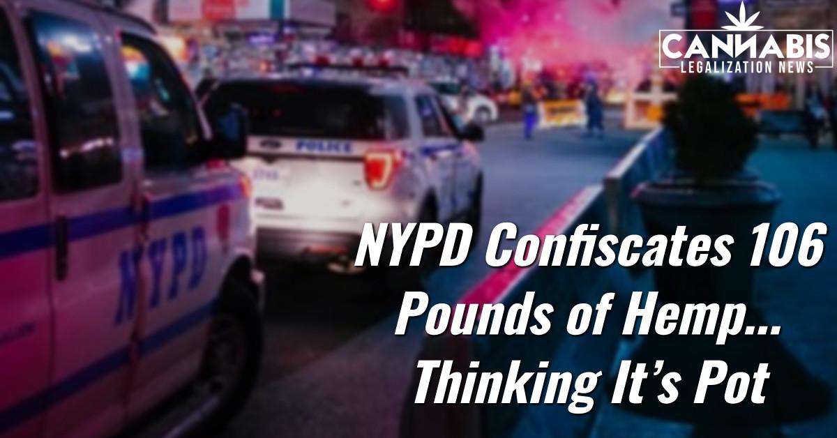 NYPD канфіскуе 106 фунтаў канопляў, думаючы, што гэта гаршчок