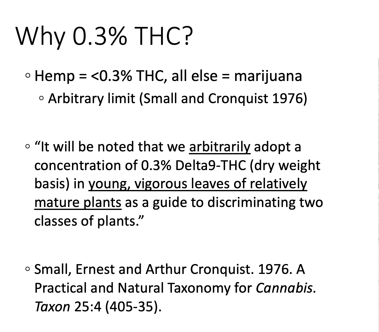 why is hemp .3% THC?