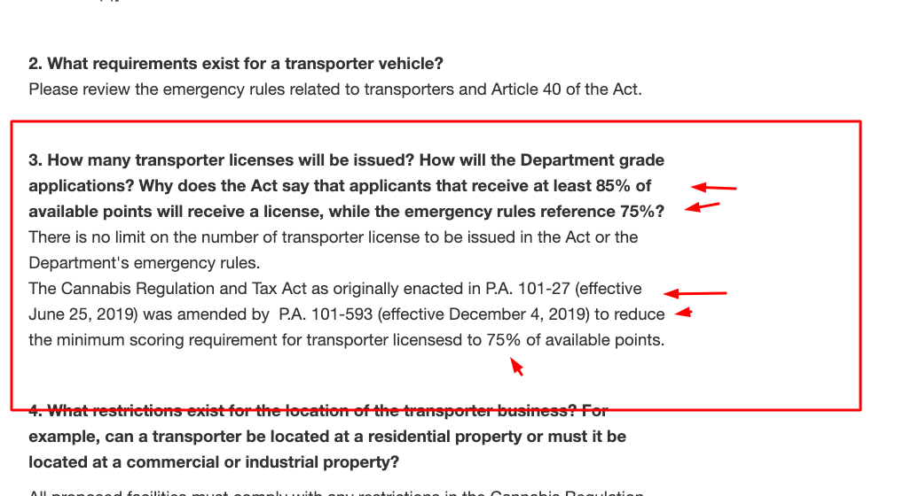 Transporter Points Amendment - Illinois department of agriculture