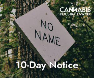 10-day notice
