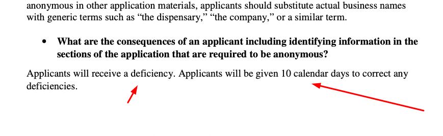 10-day notice of deficiency