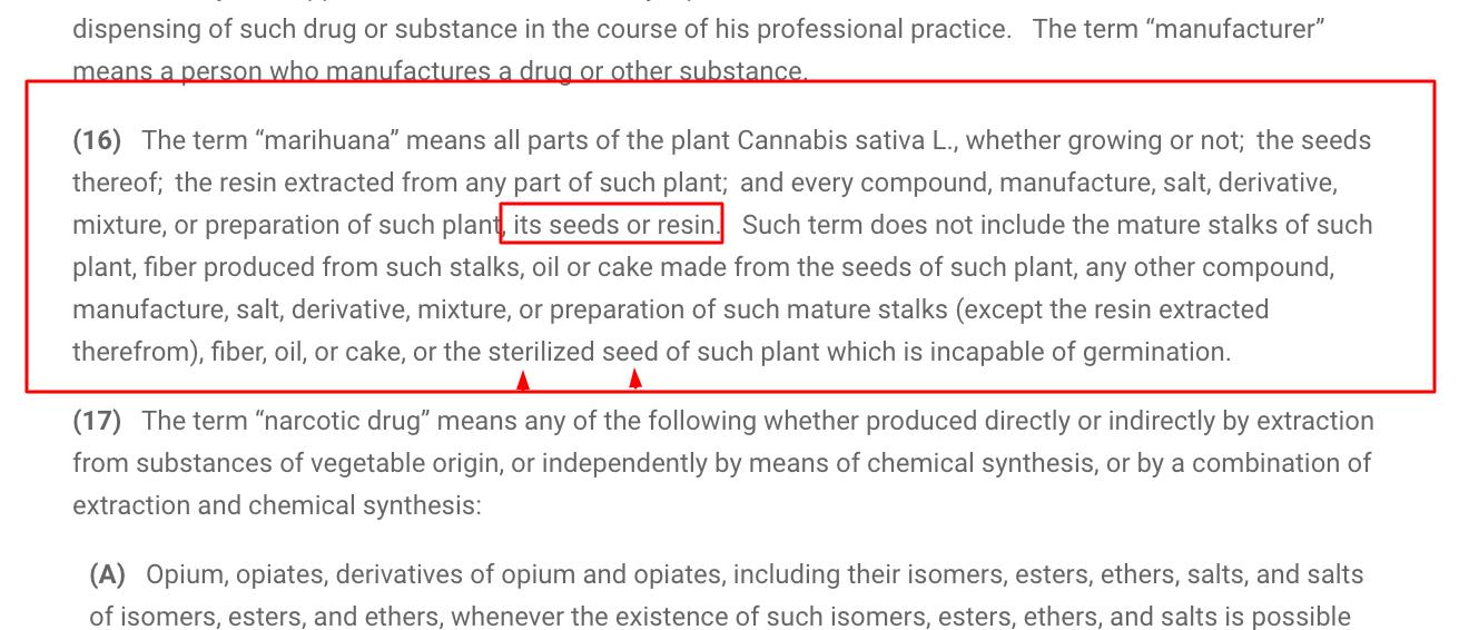 21 Definición de marihuana da USC 802